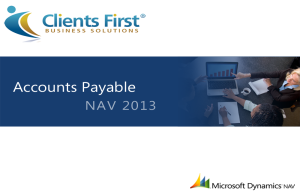 NAV 2013 Accounts Payable Training Video