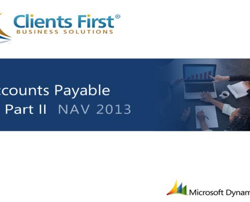 NAV 2013 R2 Accounts Payable Training Demo Part II