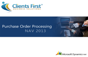 NAV 2013 Purchase Order Processing Video