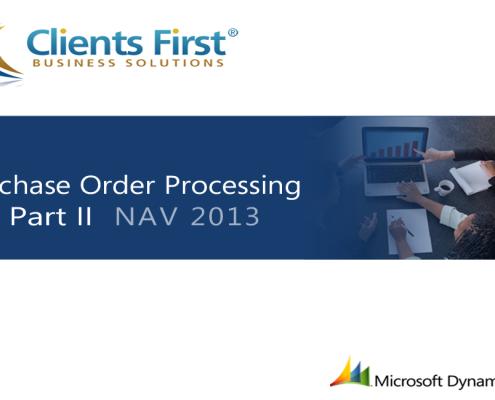 NAV 2013 R2 Purchase Order Processing