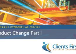 AX 2012 R3 Product Change Demo