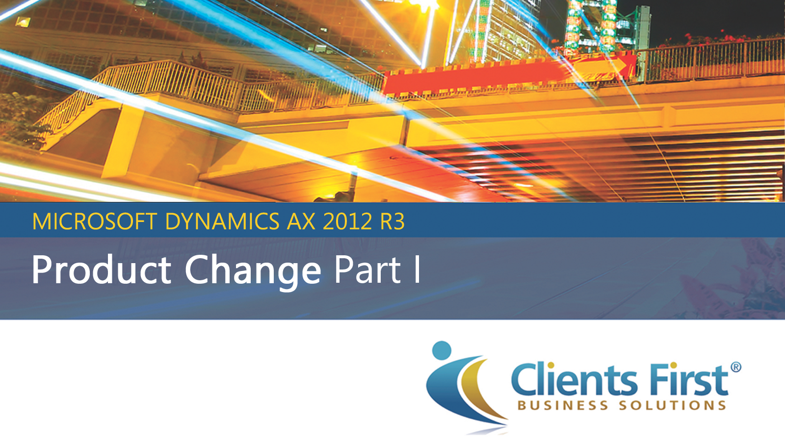 AX 2012 R3 Product Change Demo