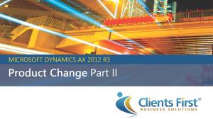 Dynamics AX 2012 R3 Demo