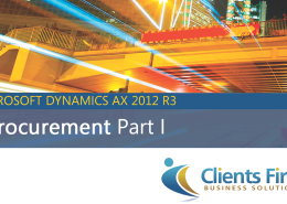 e-Procurement in AX 2012 R3