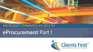 e-Procurement in AX 2012 R3