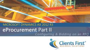 Public Vendor Portal AX 2012 R3