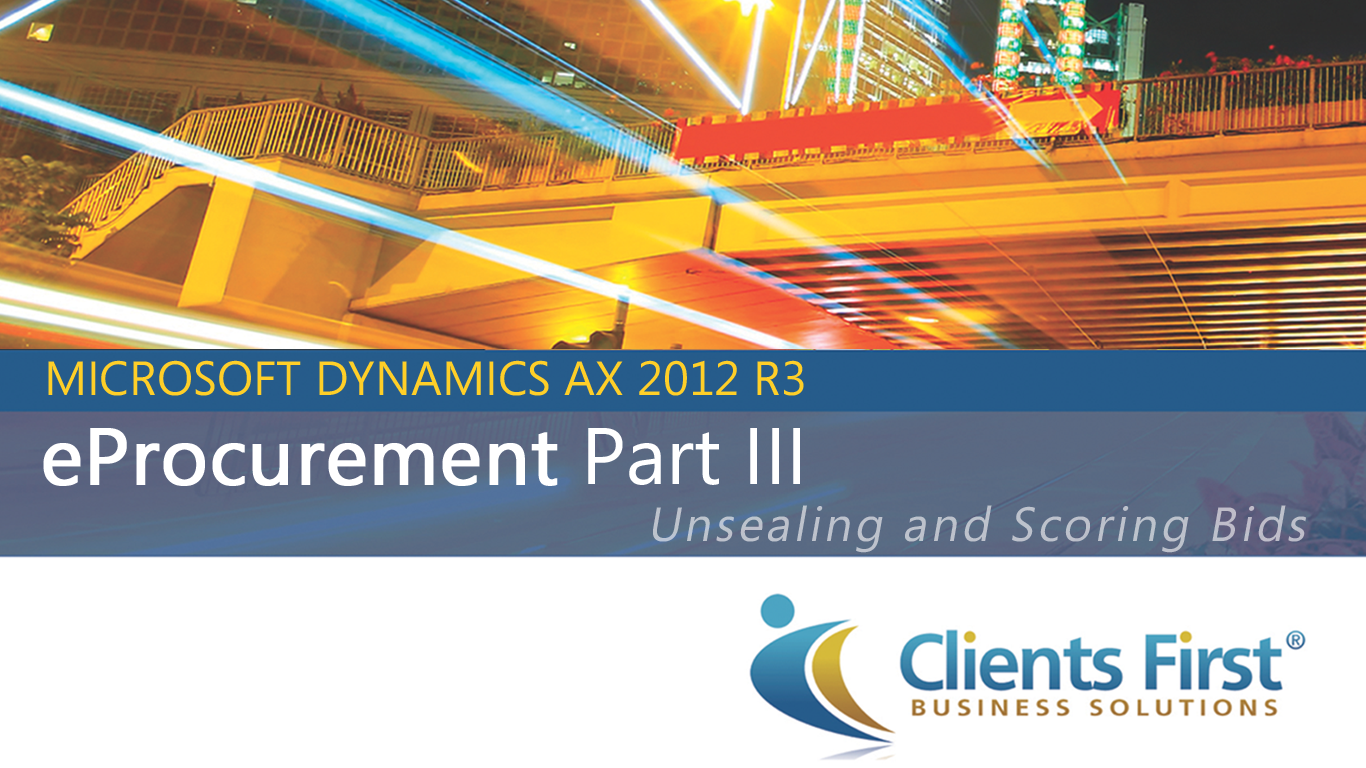 Video Dynamics Ax 2012 R3 E Procurement Module Part 3