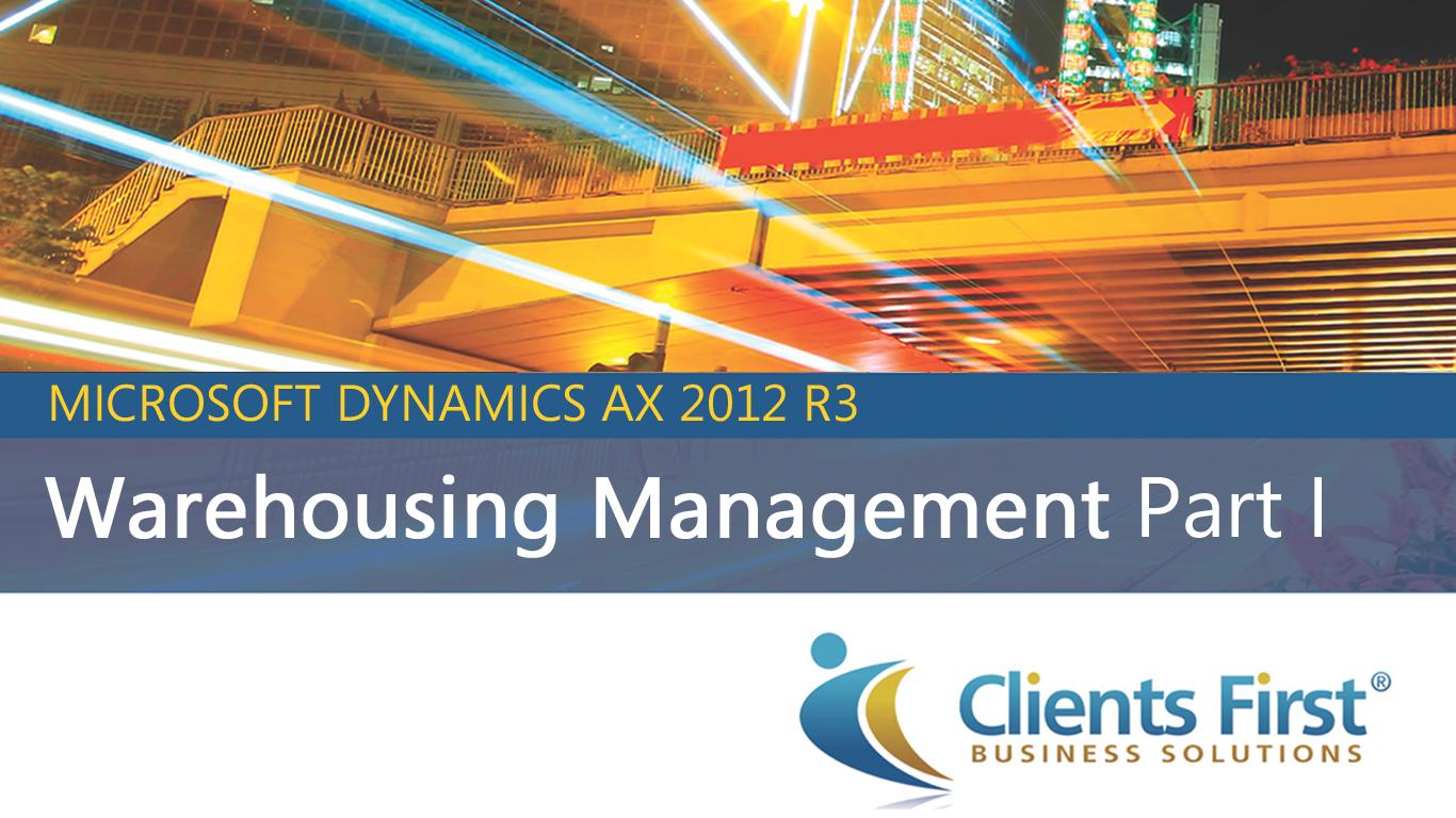 Microsoft Dynamics Ax 2012 R3 Warehouse Management Video