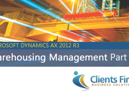 AX 2012 R3 Warehousing Management