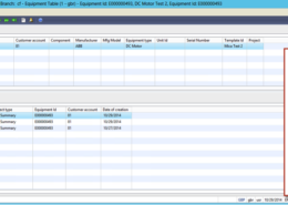 Equipment Table in Dynamics AX