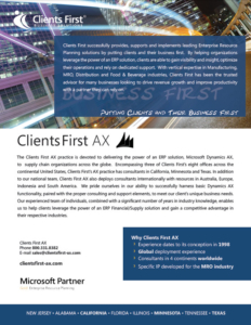 Clients First AX Brochure
