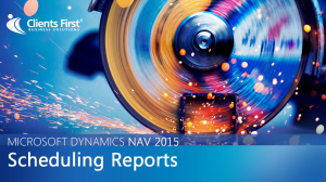 NAV 2015 Scheduling Reports Video