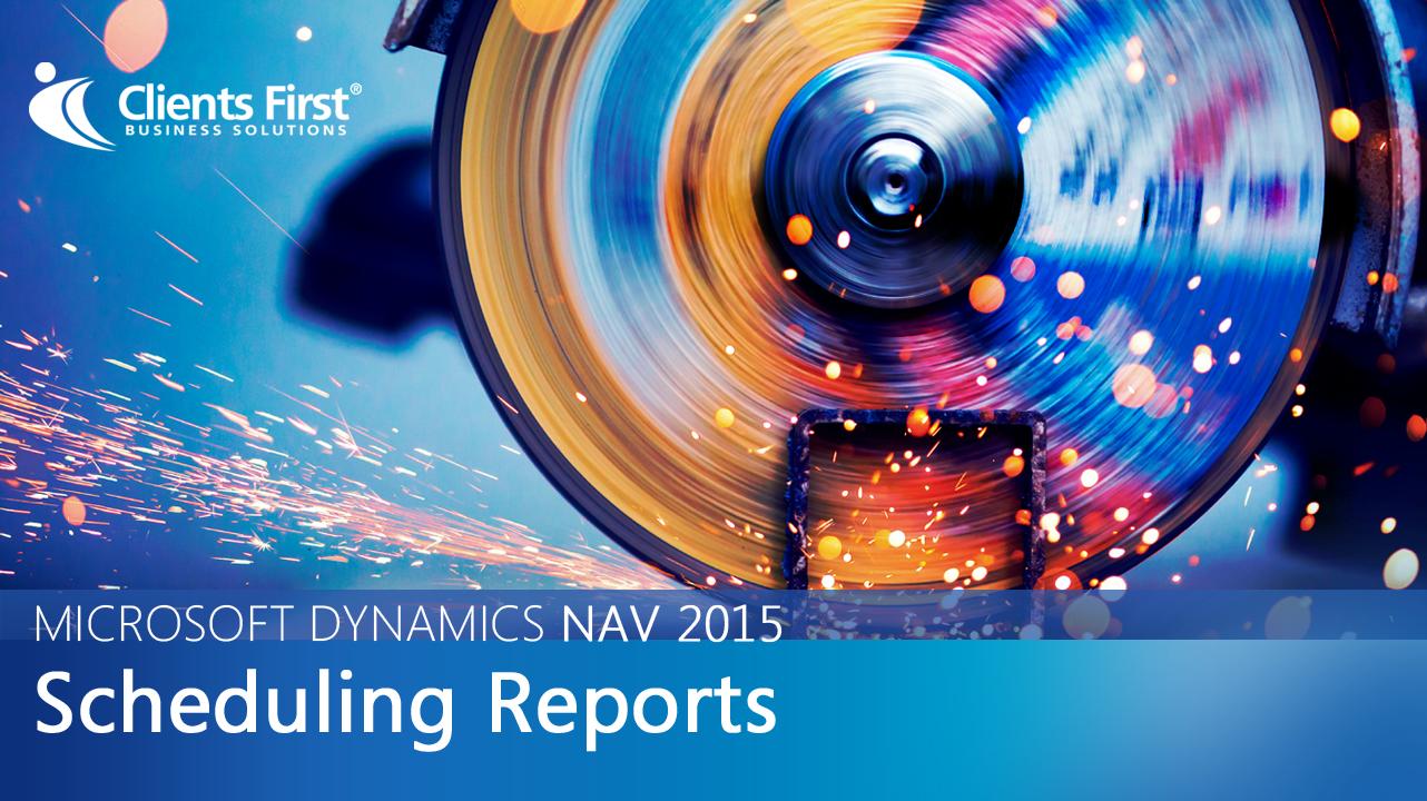 NAV 2015 Scheduling Reports Video