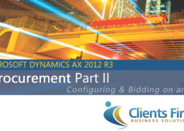 EProcurement AX 2012 R3