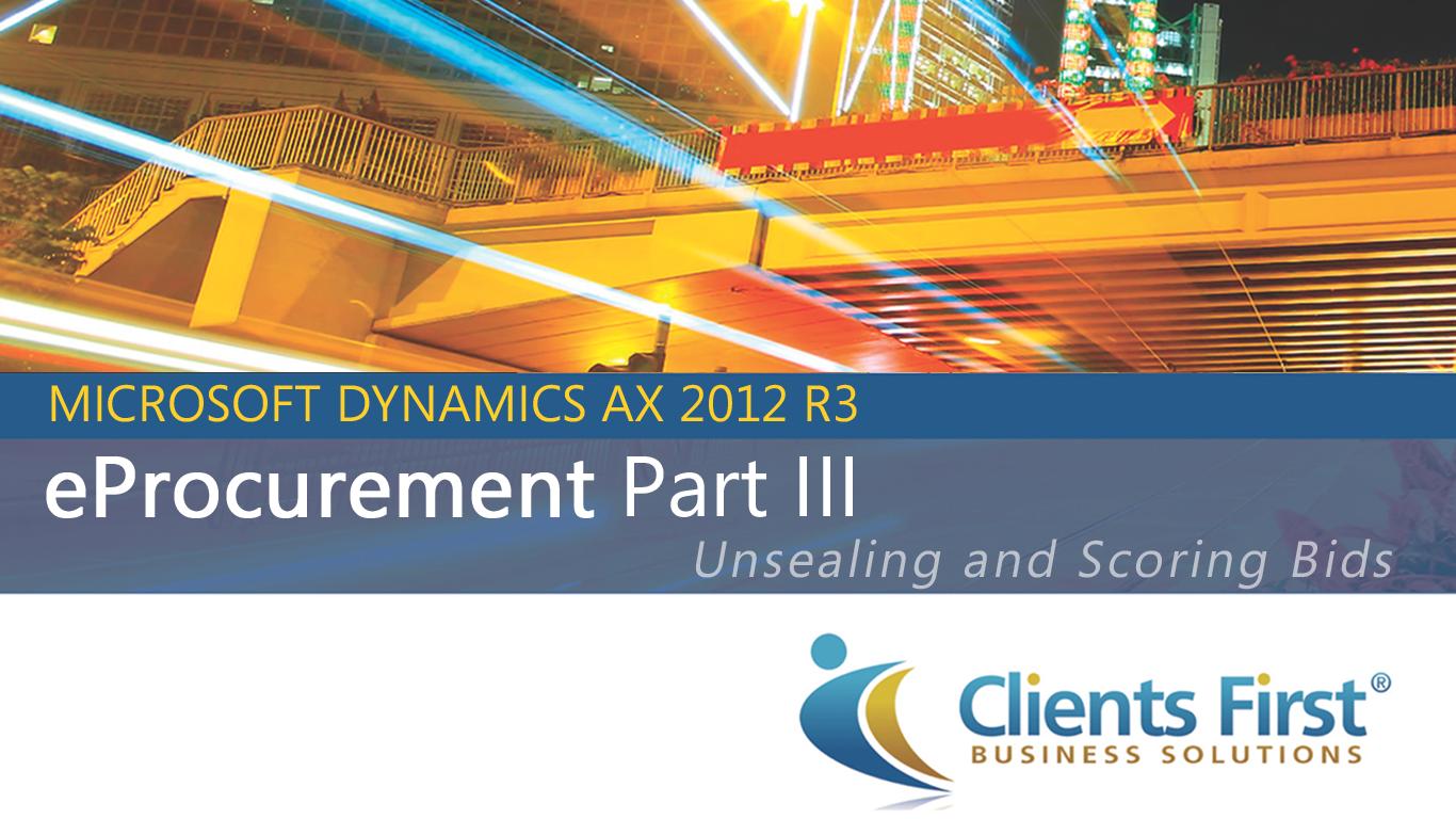 Dynamics AX EProcurement IIII