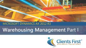 Warehousing Management Dynamics AX 2012 R3