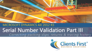 Serial Number Validation in AX