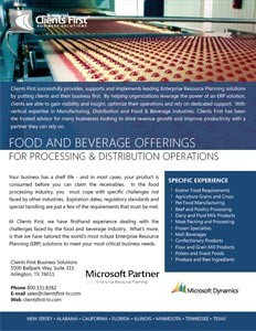 Food Processing Software Texas