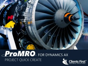 ProMRO Project Quick Create