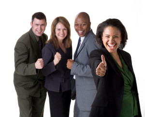 Business People Happy