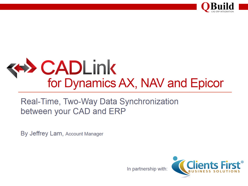 CADLink ERP to CAD Integration