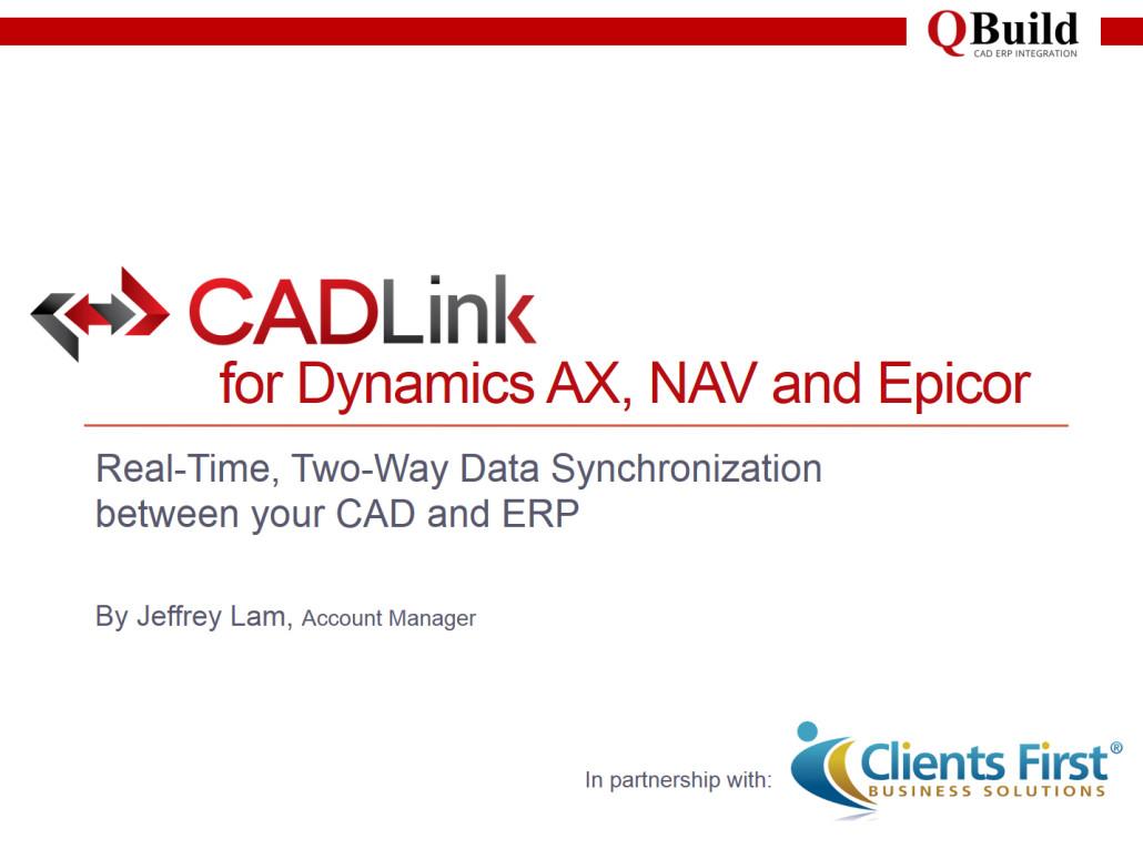 CADLink ERP to CAD Integration
