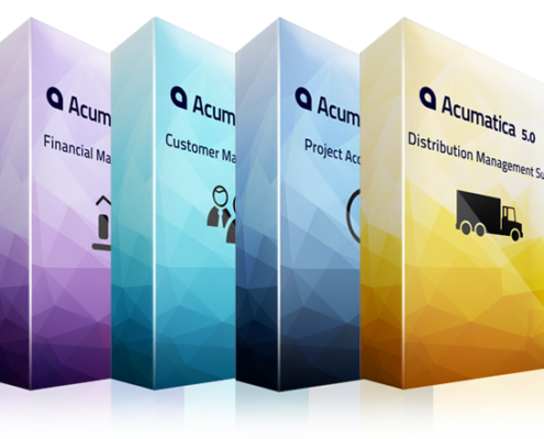 Learn about acumatica's modules, Cloud ERP, financial management, distribution management, project accounting, customer management, manufacturing management