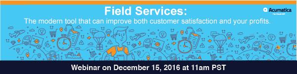 Field Services Webinar Banner