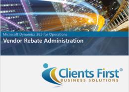 Vendor Rebates Demo Dynamics 365 Enteprise