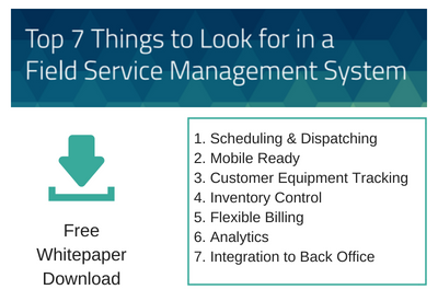 Top 7 things to look for in a field services system