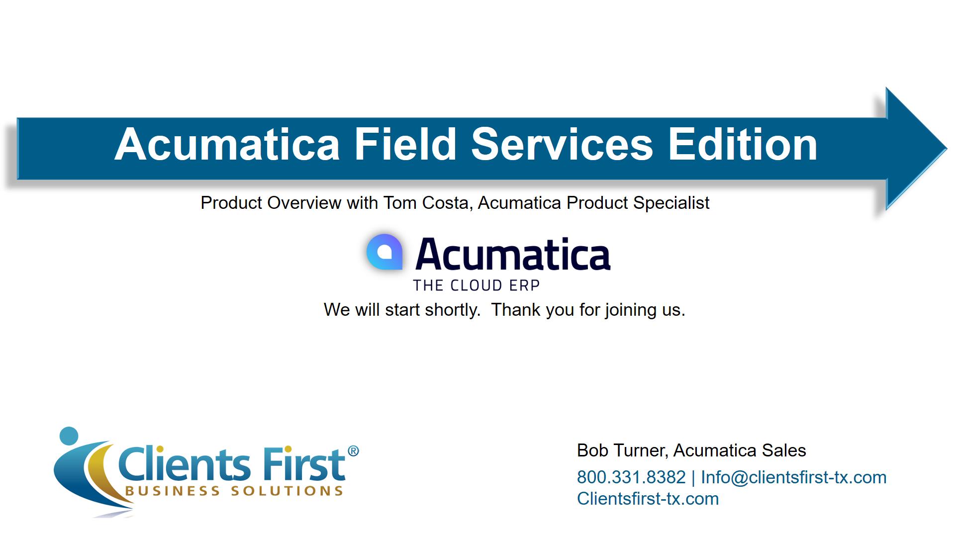 Field Services Webinar