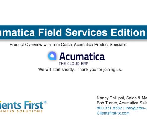 Field Services Webinar Recording