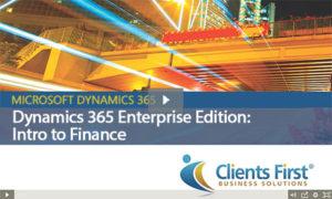 Dynamics 365 Enterprise Intro to Finance