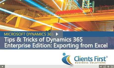 Dynamics 365 Excel Import Export
