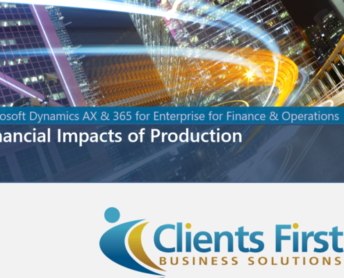 Dynamics AX Financial Impacts of Production
