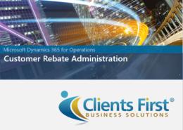 Dynamics 365 Enterprise Customer Rebat
