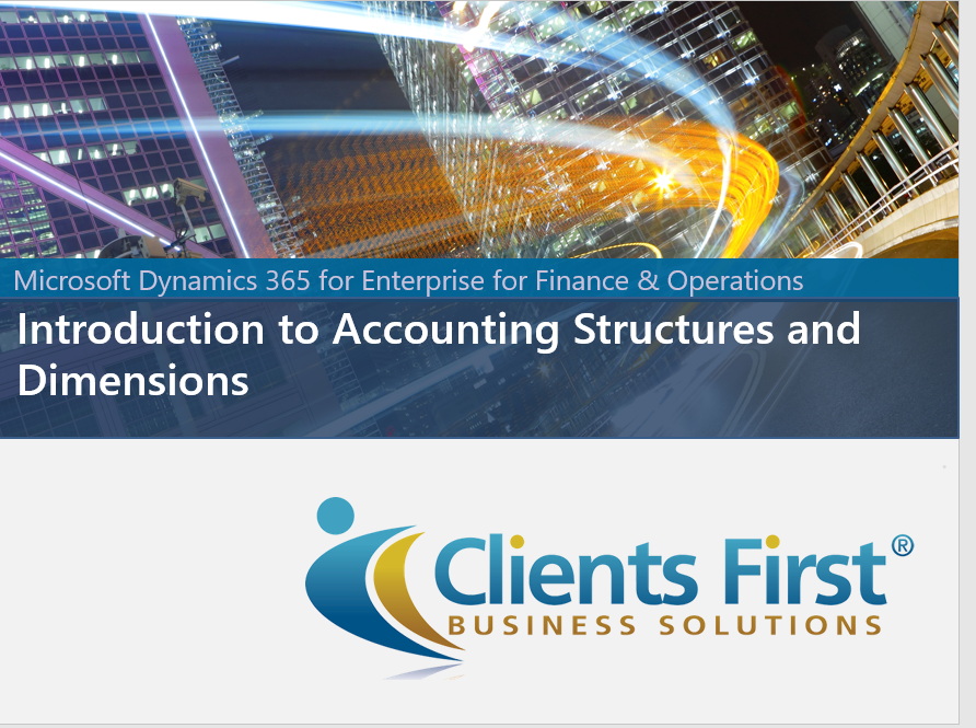 Dynamics 365 Accounts & Dimensions Demo | Clients First