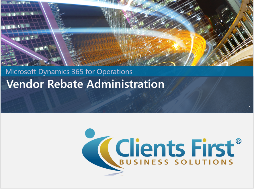 Dynamics 365 Vendor Rebate Demo