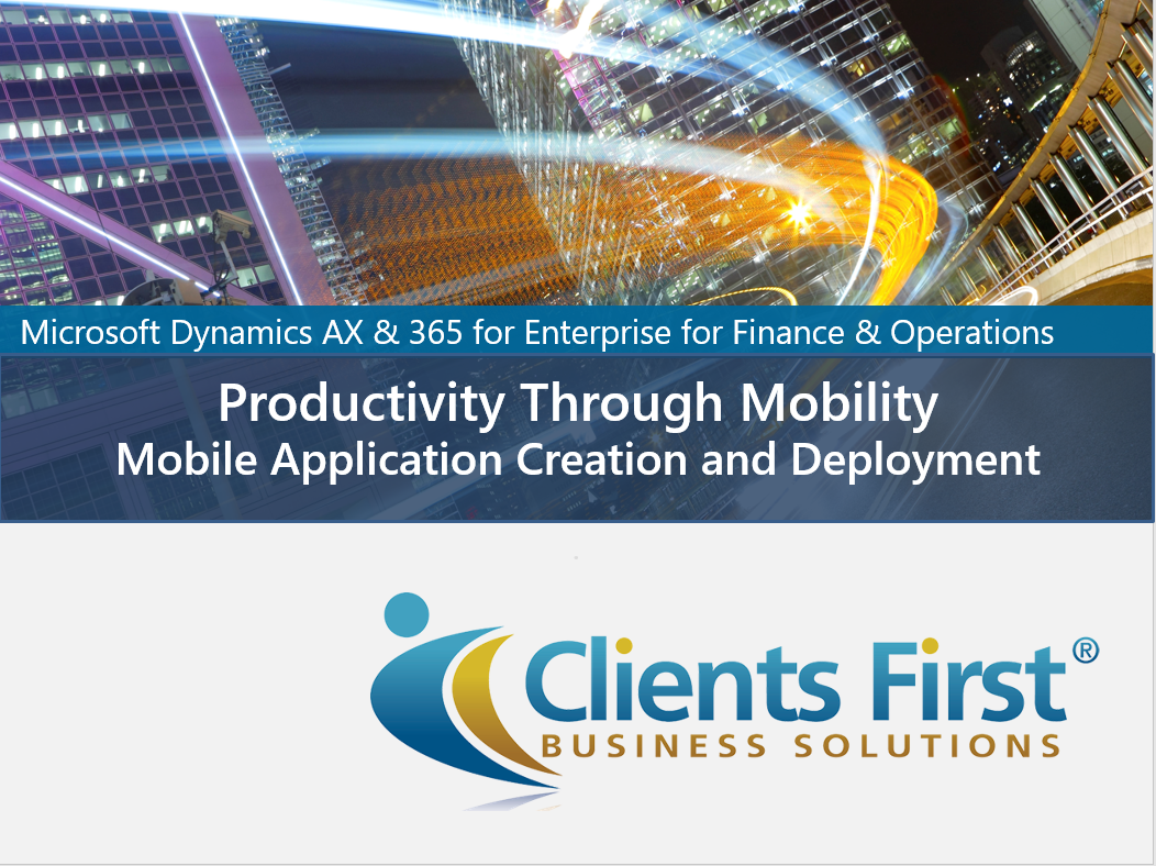 Dynamics 365 Enterprise Mobile App Demo