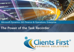 Dynamics 365 Power of the Task Recorder
