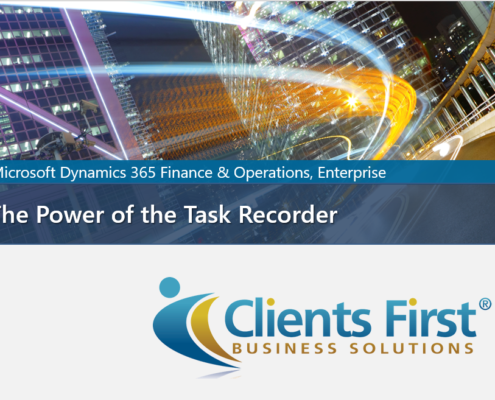 Task Recorder Dynamics 365 Enterprise
