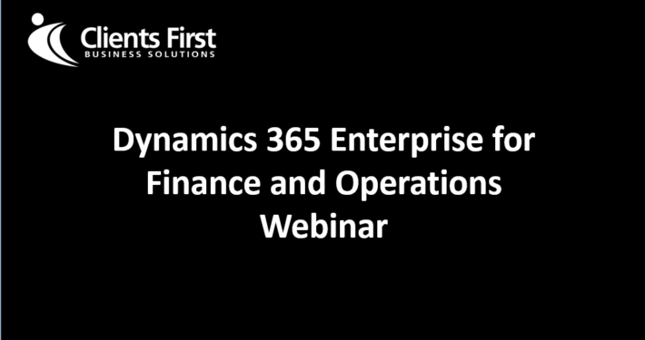Product Information Dynamics 365 Enterprise Webinar