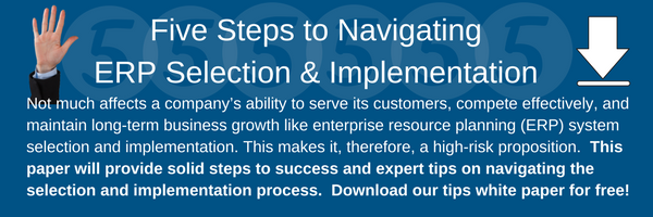 Five Steps to Navigating ERP Selection and Implementation