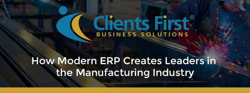 Modern ERP Manufacturing Leaders