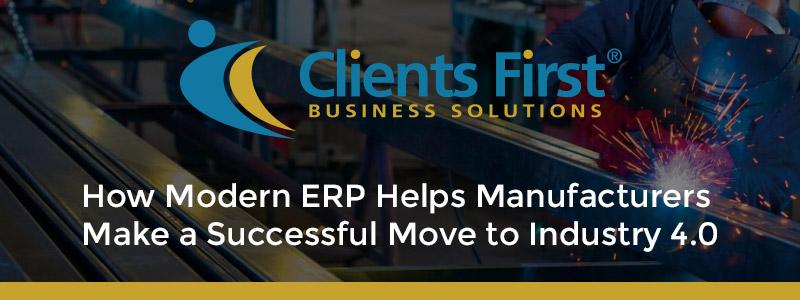 Modern ERP Manufacturing