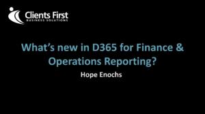 Dynamics 365 Reports Demo