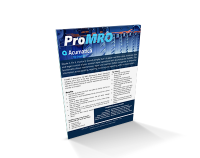 ProMRO Brochure for Acumatica