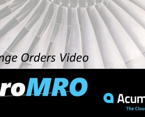 MRO Change Orders Video
