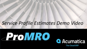 MRO Service Estimates