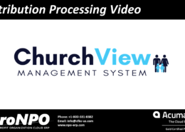 Contribution processing video